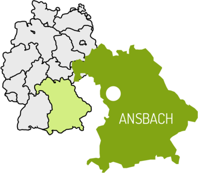 Lage Stadt Ansbach